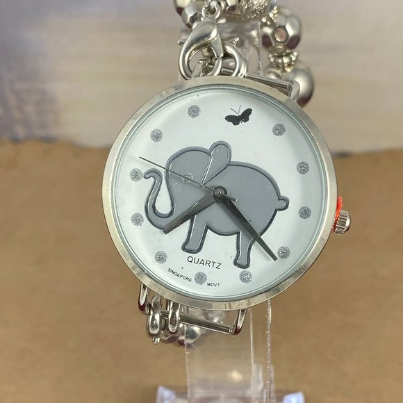 Vintage Other - Child's Watch Elephants Always Remember Silver